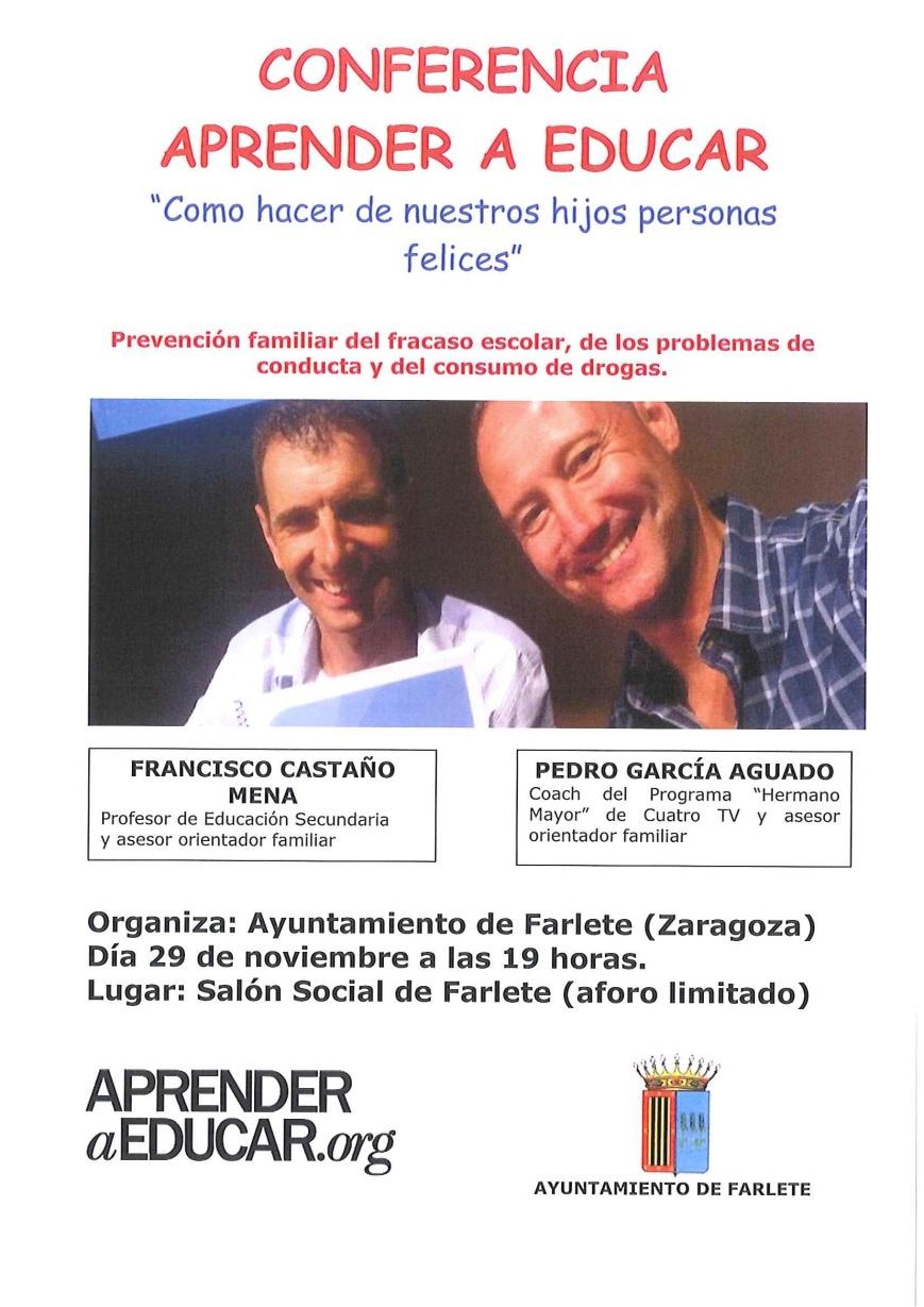Próxima conferencia en Farlete (Zaragoza)